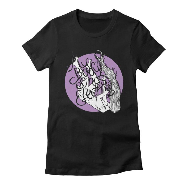 Falling For You (Purple) Women's T-Shirt by My Body Sings Electric Merch | Shop Men, Women, an