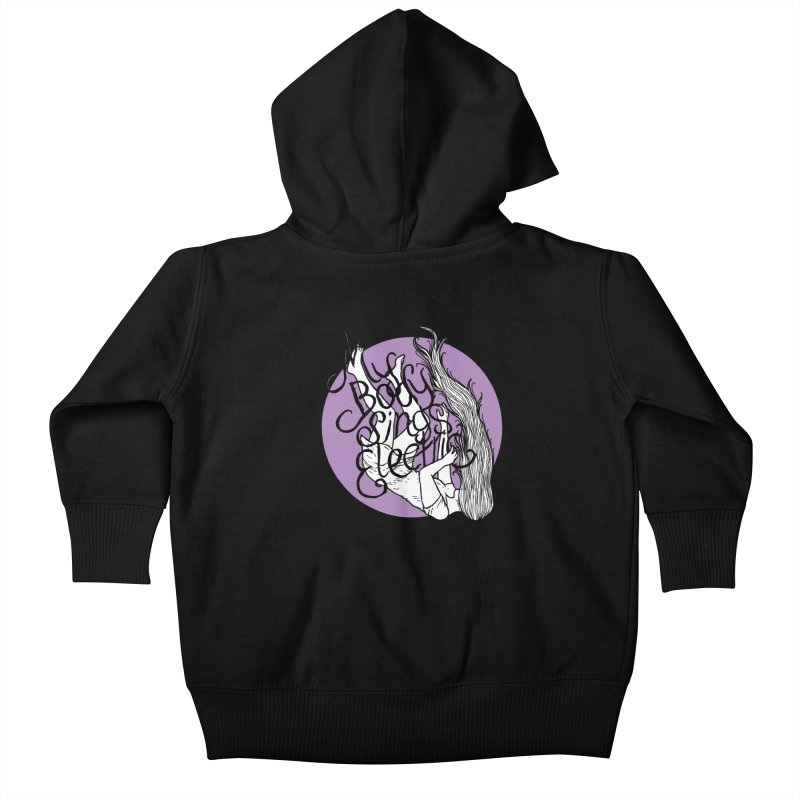 Falling For You (Purple) Kids Baby Zip-Up Hoody by My Body Sings Electric Merch | Shop Men, Women, an
