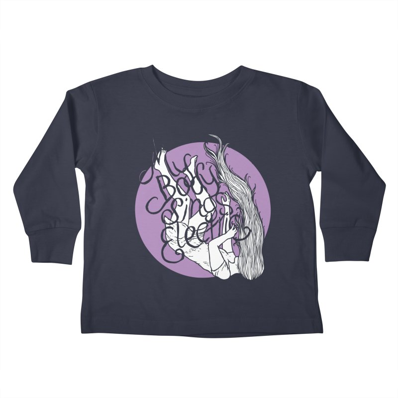 Falling For You (Purple) Kids Toddler Longsleeve T-Shirt by My Body Sings Electric Merch | Shop Men, Women, an