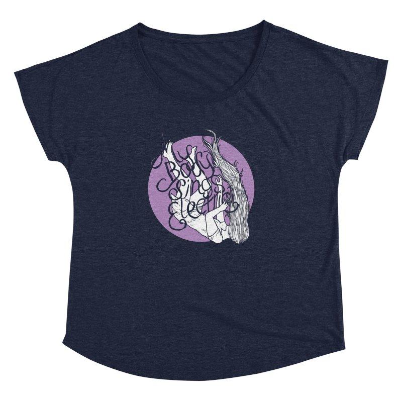 Falling For You (Purple) Women's Dolman Scoop Neck by My Body Sings Electric Merch | Shop Men, Women, an