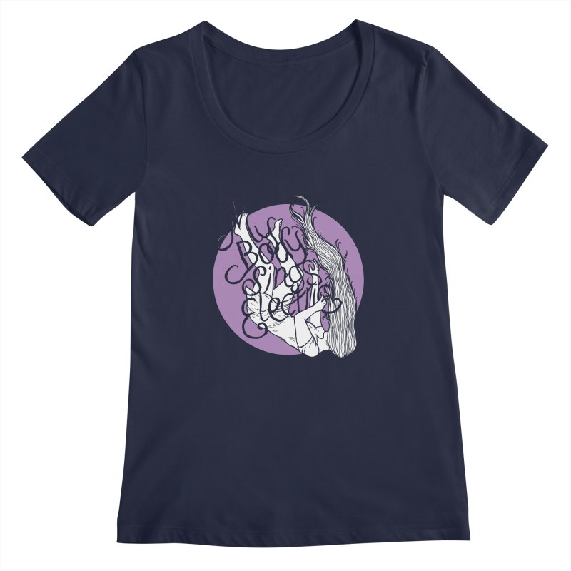 Falling For You (Purple) Women's Regular Scoop Neck by My Body Sings Electric Merch | Shop Men, Women, an
