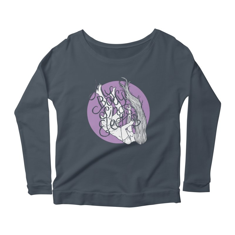 Falling For You (Purple) Women's Scoop Neck Longsleeve T-Shirt by My Body Sings Electric Merch | Shop Men, Women, an