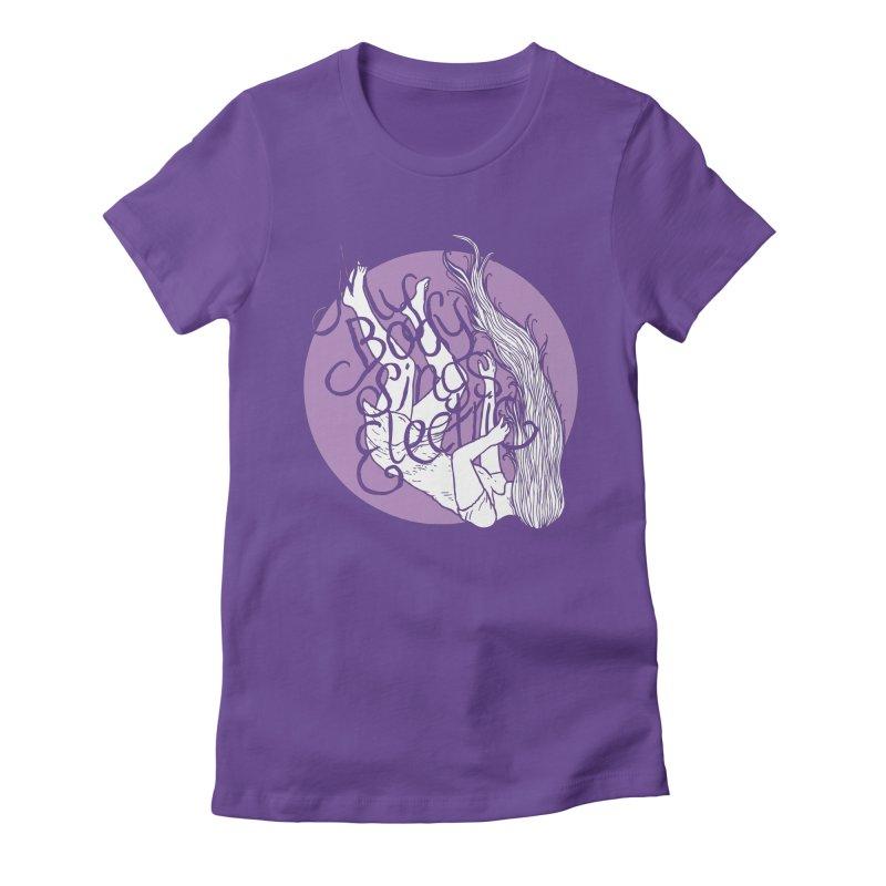 Falling For You (Purple) Women's Fitted T-Shirt by My Body Sings Electric Merch   Shop Men, Women, an