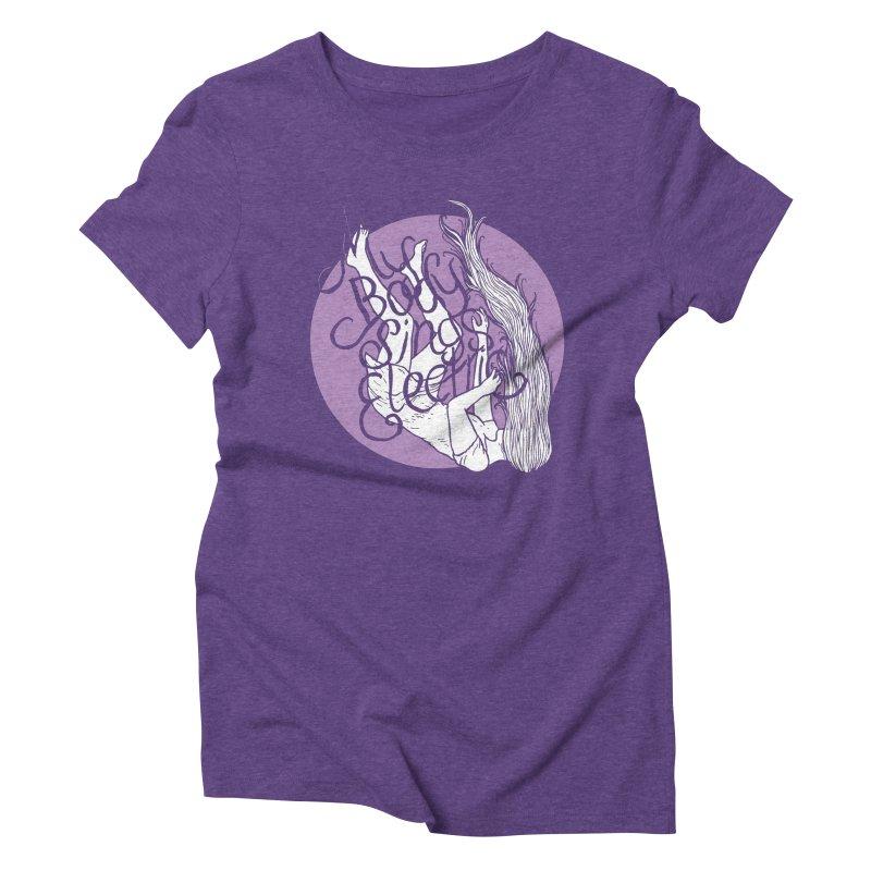 Falling For You (Purple) Women's Triblend T-Shirt by My Body Sings Electric Merch | Shop Men, Women, an