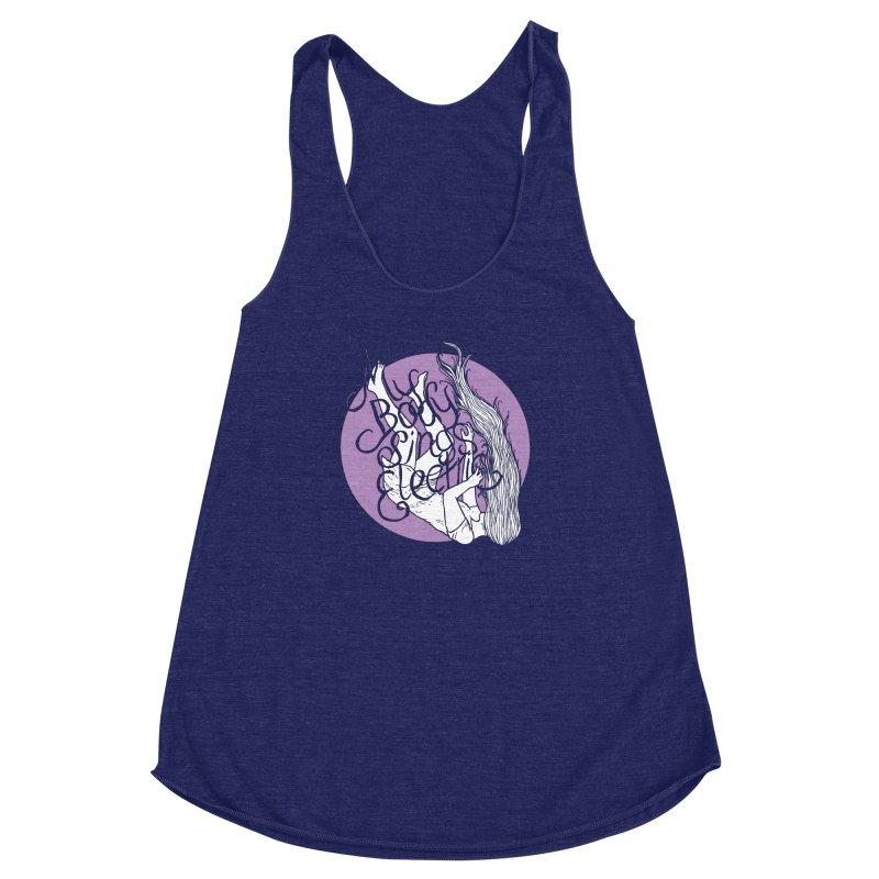 Falling For You (Purple) Women's Racerback Triblend Tank by My Body Sings Electric Merch | Shop Men, Women, an