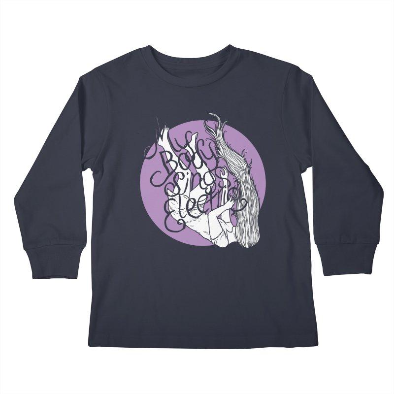 Falling For You (Purple) Kids Longsleeve T-Shirt by My Body Sings Electric Merch | Shop Men, Women, an