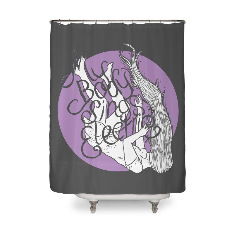 Falling For You (Purple) Home Shower Curtain by My Body Sings Electric Merch | Shop Men, Women, an