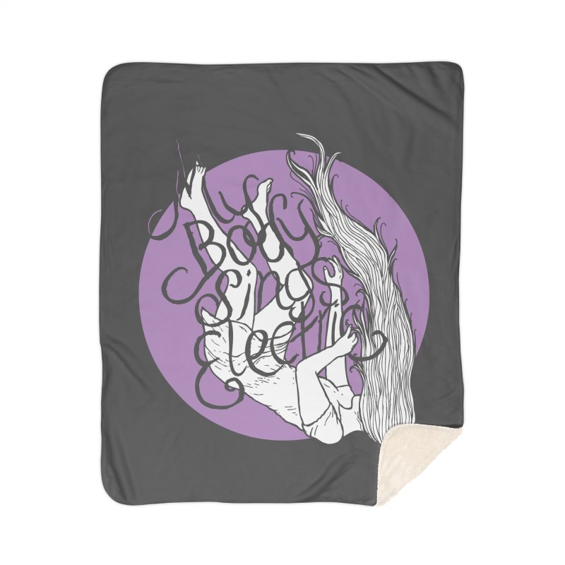 Falling For You (Purple) Home Sherpa Blanket Blanket by My Body Sings Electric Merch | Shop Men, Women, an