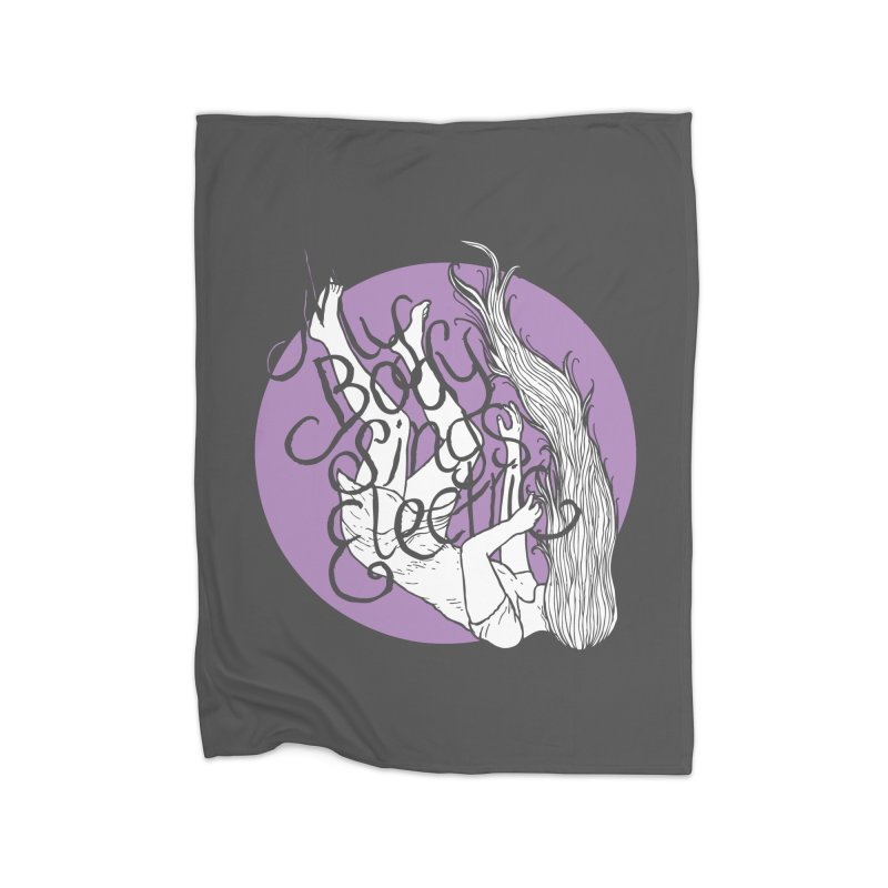 Falling For You (Purple) Home Fleece Blanket Blanket by My Body Sings Electric Merch | Shop Men, Women, an