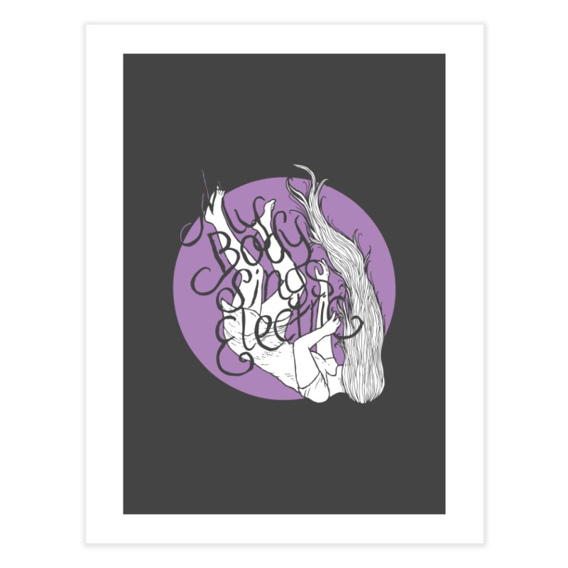Falling For You (Purple) Home Fine Art Print by My Body Sings Electric Merch | Shop Men, Women, an