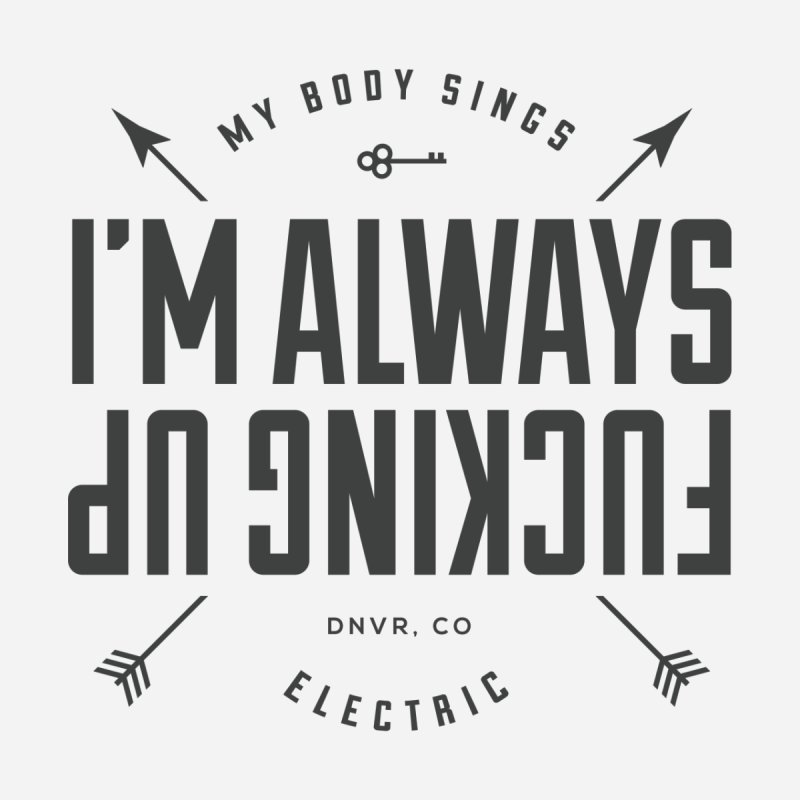 Clumsy Mess Women's Scoop Neck by My Body Sings Electric Merch | Shop Men, Women, an