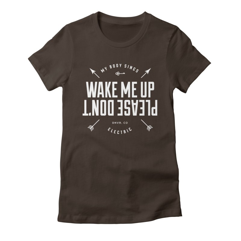 Sleepyhead Women's Fitted T-Shirt by My Body Sings Electric Merch | Shop Men, Women, an