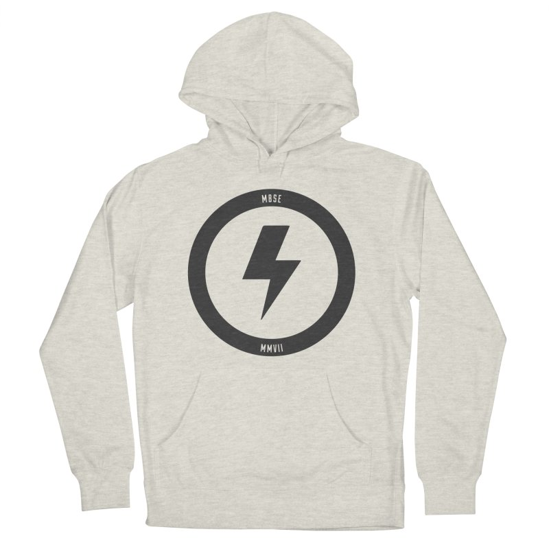 Bolt Logo Men's French Terry Pullover Hoody by My Body Sings Electric Merch | Shop Men, Women, an