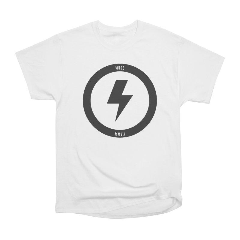 Bolt Logo Men's Heavyweight T-Shirt by My Body Sings Electric Merch | Shop Men, Women, an