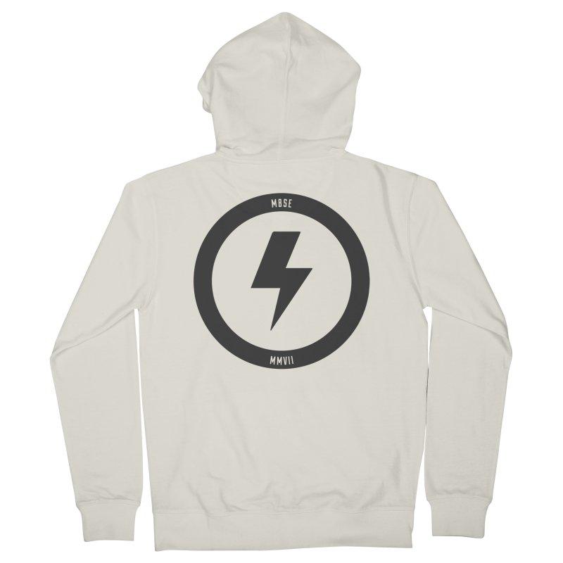Bolt Logo Men's French Terry Zip-Up Hoody by My Body Sings Electric Merch | Shop Men, Women, an
