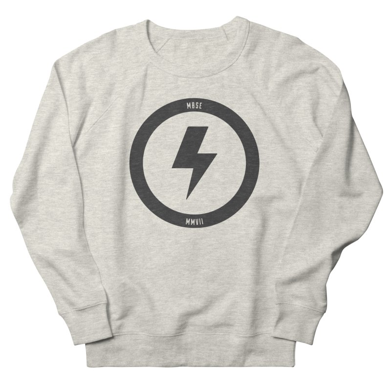 Bolt Logo Men's French Terry Sweatshirt by My Body Sings Electric Merch | Shop Men, Women, an
