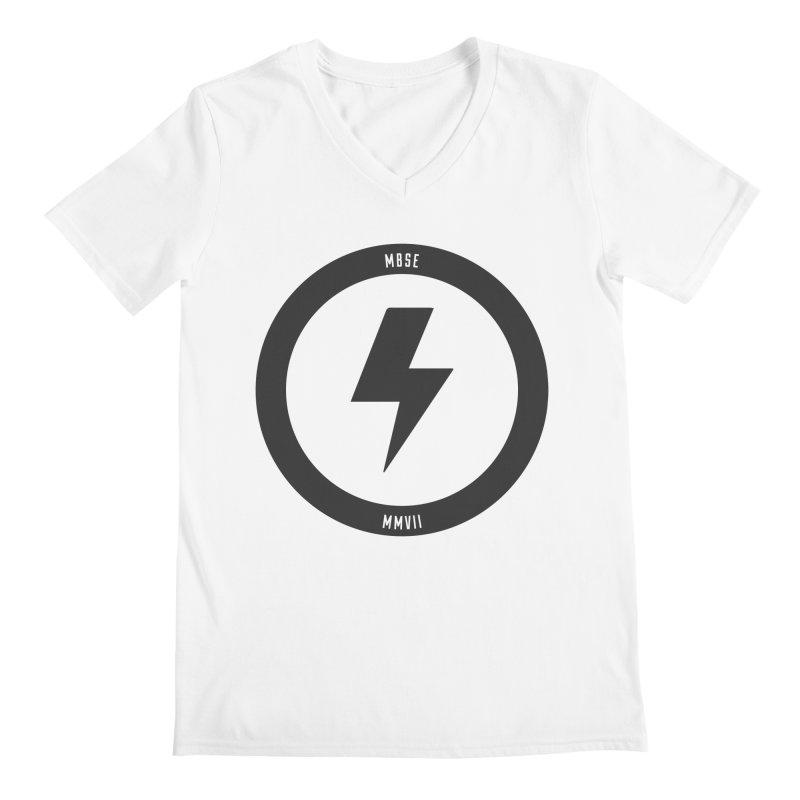 Bolt Logo Men's Regular V-Neck by My Body Sings Electric Merch | Shop Men, Women, an