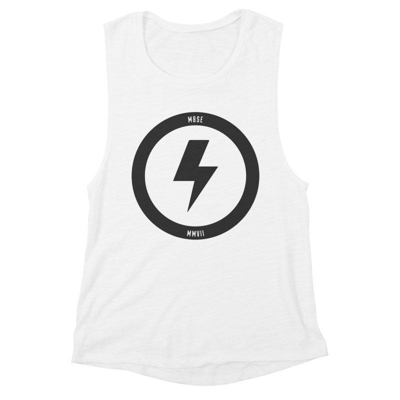 Bolt Logo Women's Muscle Tank by My Body Sings Electric Merch   Shop Men, Women, an