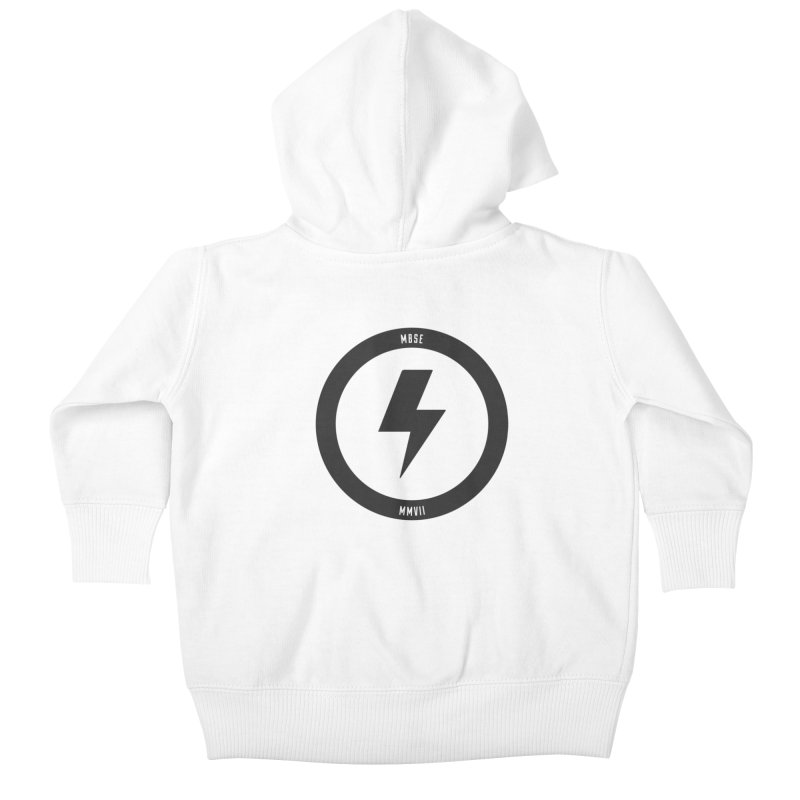 Bolt Logo Kids Baby Zip-Up Hoody by My Body Sings Electric Merch | Shop Men, Women, an