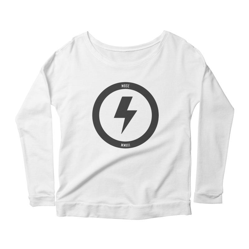 Bolt Logo Women's Scoop Neck Longsleeve T-Shirt by My Body Sings Electric Merch | Shop Men, Women, an