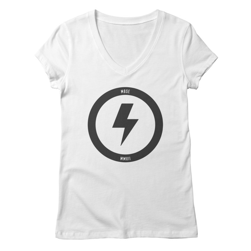 Bolt Logo Women's Regular V-Neck by My Body Sings Electric Merch | Shop Men, Women, an