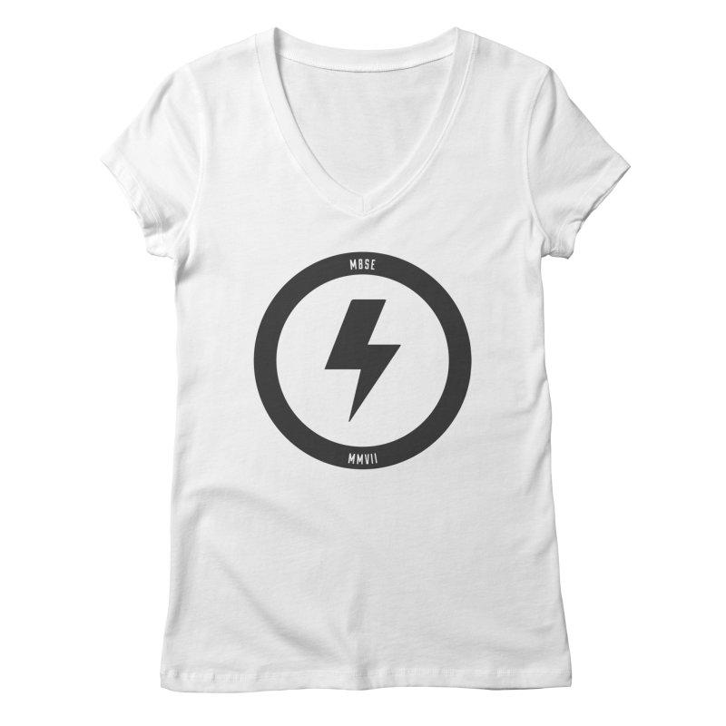 Bolt Logo Women's V-Neck by My Body Sings Electric Merch | Shop Men, Women, an