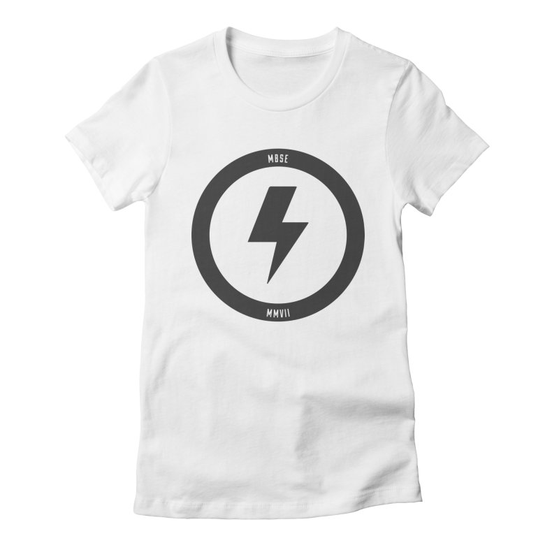 Bolt Logo Women's Fitted T-Shirt by My Body Sings Electric Merch | Shop Men, Women, an