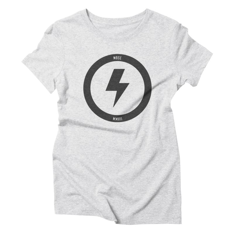 Bolt Logo Women's Triblend T-Shirt by My Body Sings Electric Merch | Shop Men, Women, an