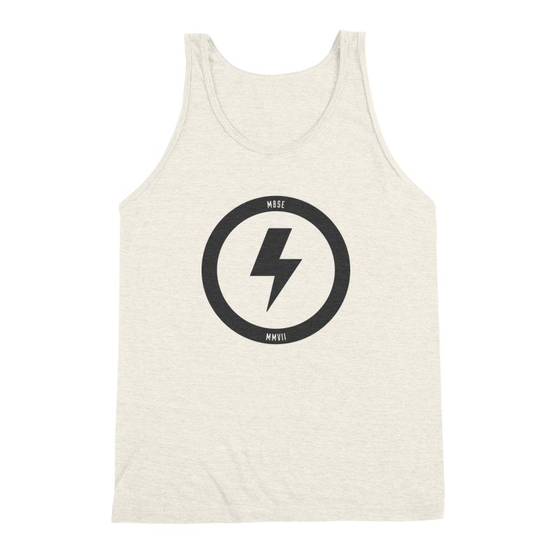 Bolt Logo Men's Triblend Tank by My Body Sings Electric Merch | Shop Men, Women, an