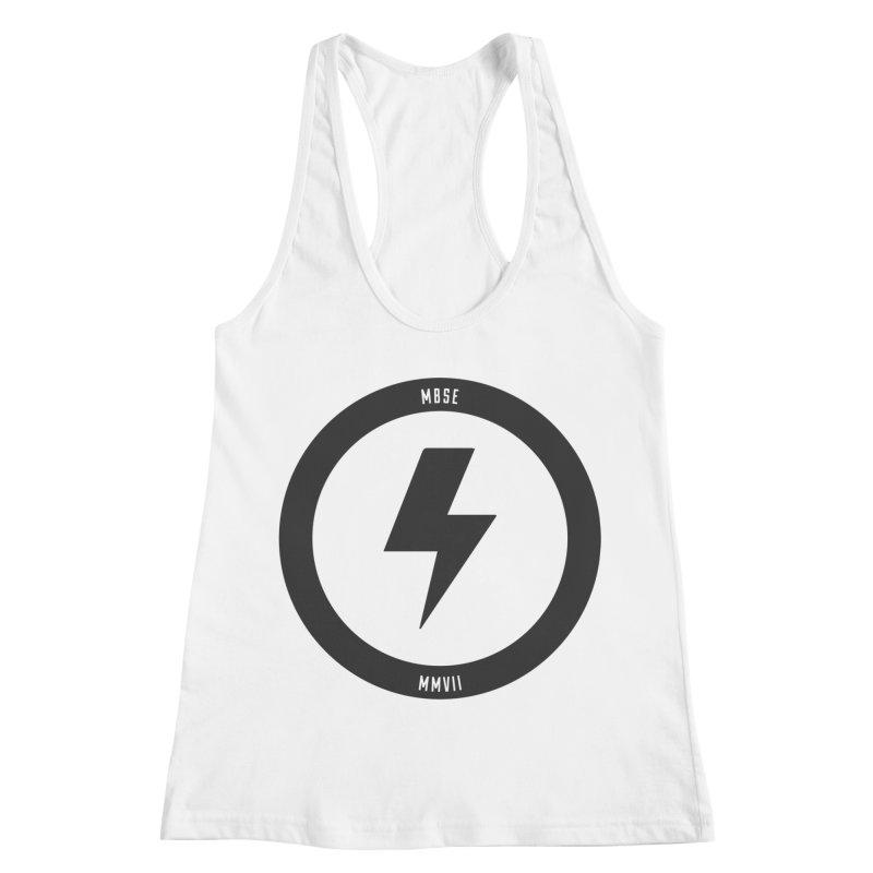 Bolt Logo Women's Racerback Tank by My Body Sings Electric Merch | Shop Men, Women, an