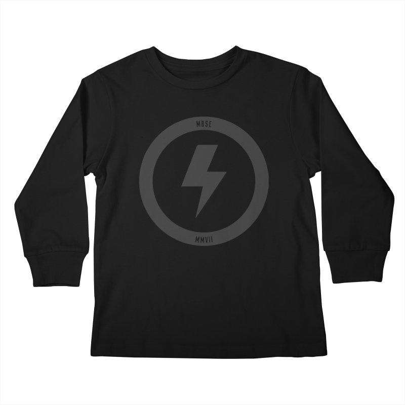 Bolt Logo Kids Longsleeve T-Shirt by My Body Sings Electric Merch | Shop Men, Women, an