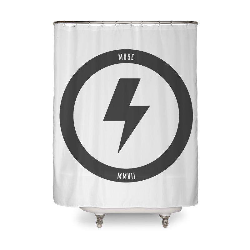 Bolt Logo Home Shower Curtain by My Body Sings Electric Merch | Shop Men, Women, an
