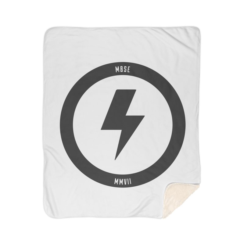 Bolt Logo Home Sherpa Blanket Blanket by My Body Sings Electric Merch | Shop Men, Women, an