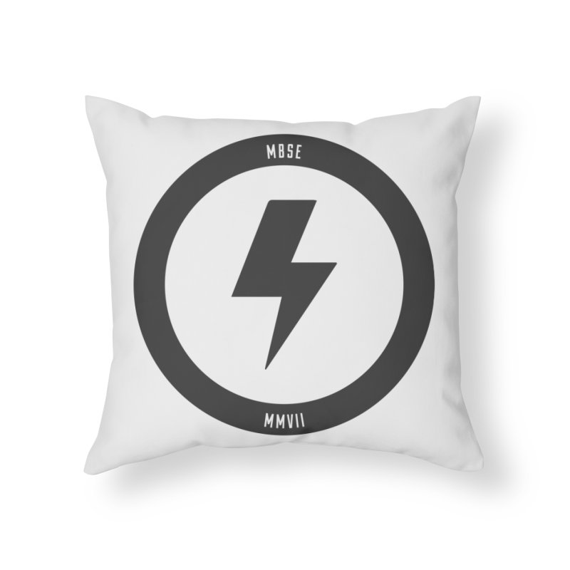 Bolt Logo Home Throw Pillow by My Body Sings Electric Merch | Shop Men, Women, an
