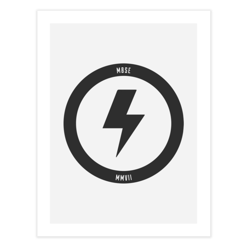Bolt Logo Home Fine Art Print by My Body Sings Electric Merch | Shop Men, Women, an