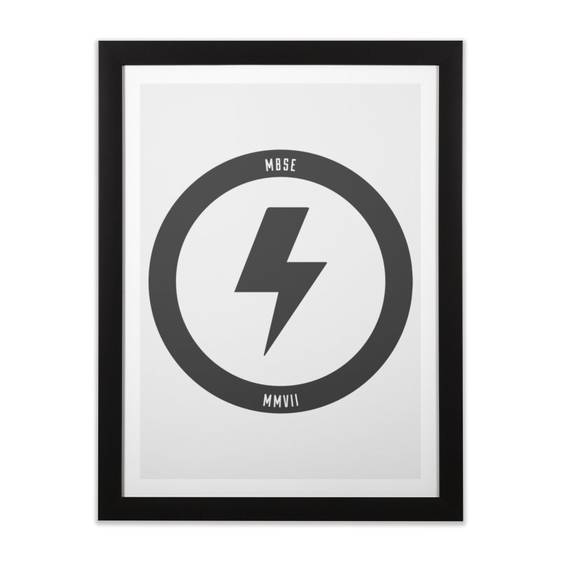 Bolt Logo Home Framed Fine Art Print by My Body Sings Electric Merch | Shop Men, Women, an