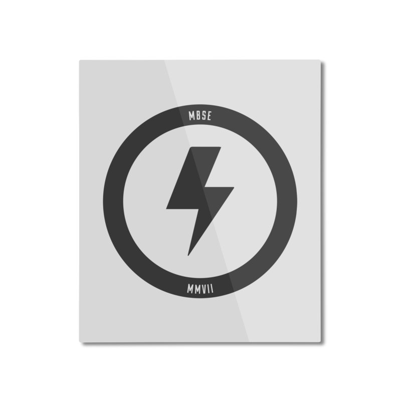 Bolt Logo Home Mounted Aluminum Print by My Body Sings Electric Merch | Shop Men, Women, an