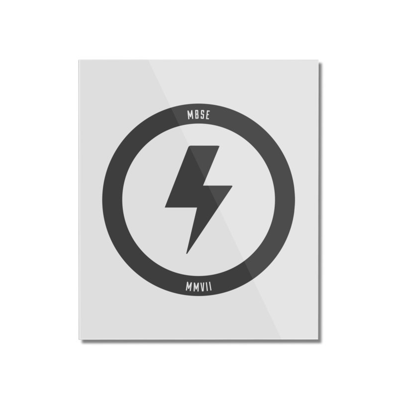 Bolt Logo Home Mounted Acrylic Print by My Body Sings Electric Merch | Shop Men, Women, an