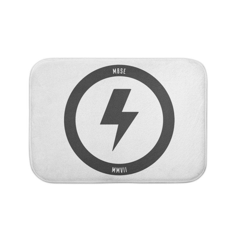 Bolt Logo Home Bath Mat by My Body Sings Electric Merch | Shop Men, Women, an