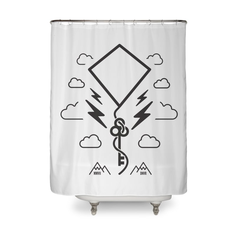 Mile High Flyer (Black) Home Shower Curtain by My Body Sings Electric Merch | Shop Men, Women, an