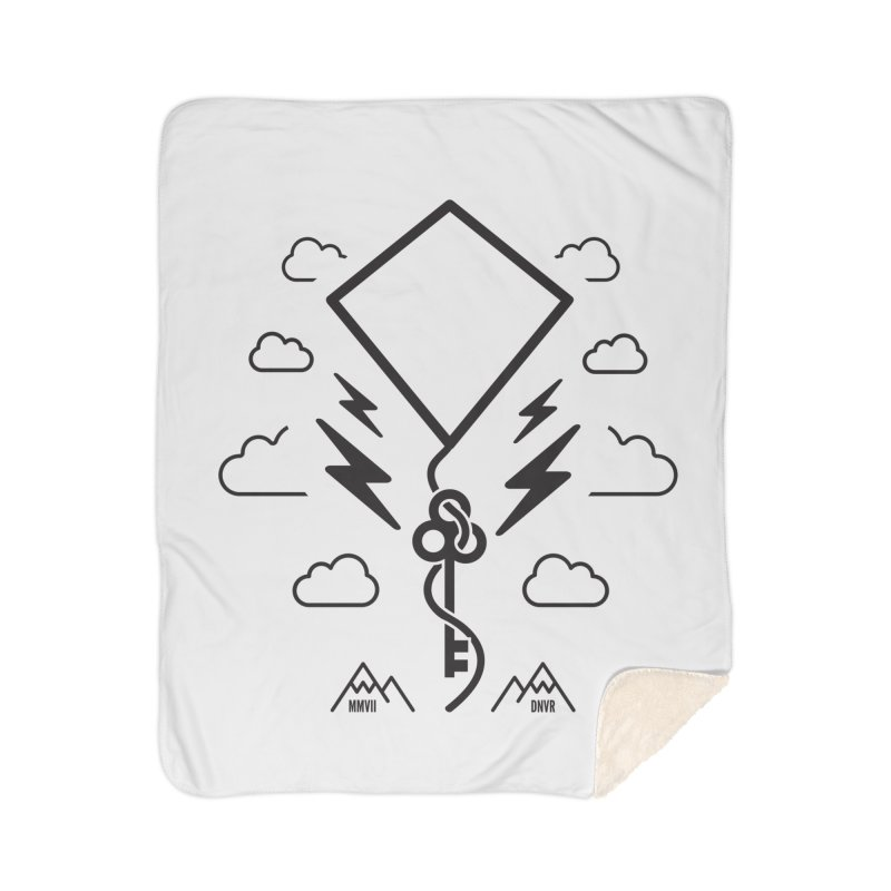 Mile High Flyer (Black) Home Sherpa Blanket Blanket by My Body Sings Electric Merch | Shop Men, Women, an