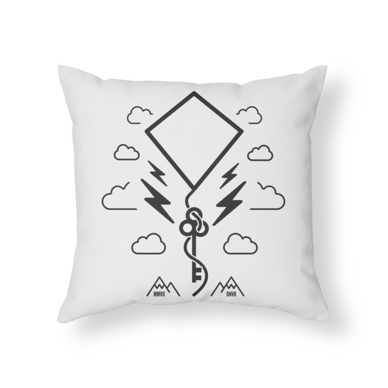 Mile High Flyer (Black) Home Throw Pillow by My Body Sings Electric Merch | Shop Men, Women, an
