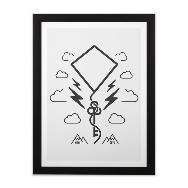 Mile High Flyer (Black) Home Framed Fine Art Print by My Body Sings Electric Merch | Shop Men, Women, an