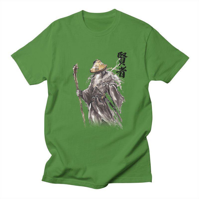 Samurai Gandalf with Japanese Calligraphy Wise Man Men's T-shirt by mycks's Artist Shop