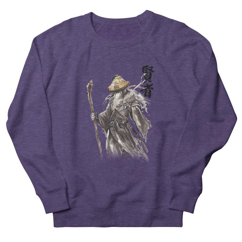Samurai Gandalf with Japanese Calligraphy Wise Man Women's Sweatshirt by mycks's Artist Shop