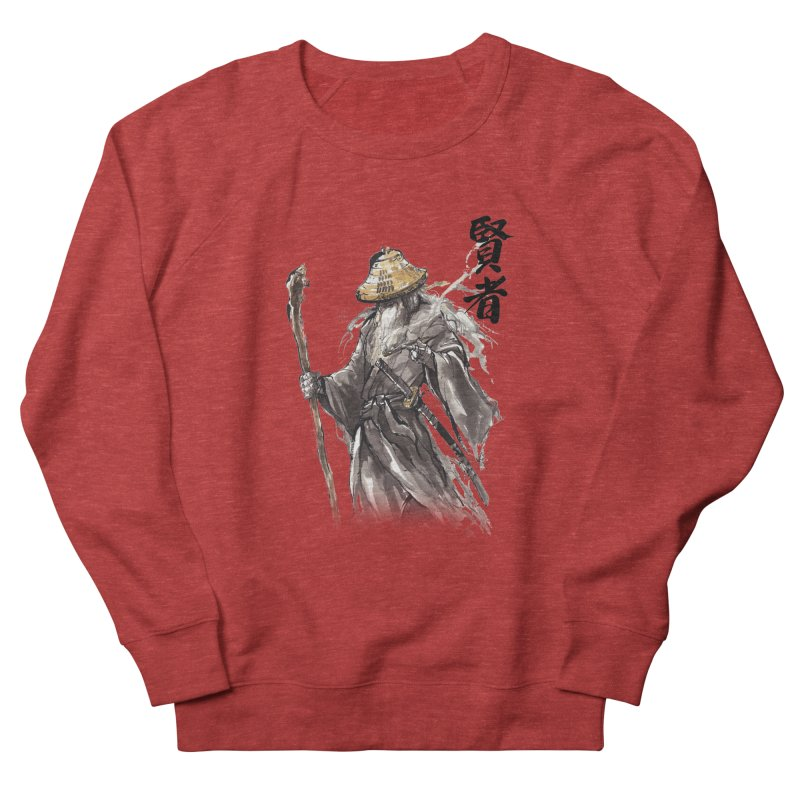 Samurai Gandalf with Japanese Calligraphy Wise Man Women's Sweatshirt by mycks's Artist Shop