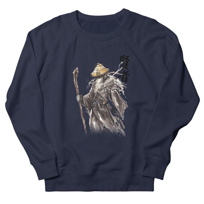 Samurai Gandalf with Japanese Calligraphy Wise Man Men's Sweatshirt by mycks's Artist Shop