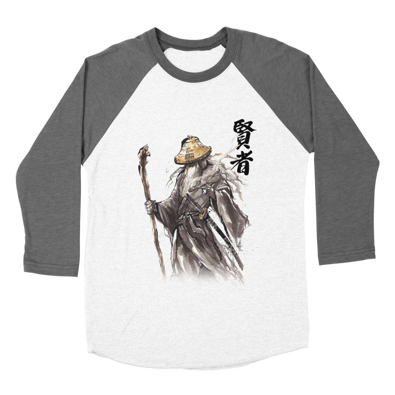 Samurai Gandalf with Japanese Calligraphy Wise Man Men's Baseball Triblend T-Shirt by mycks's Artist Shop