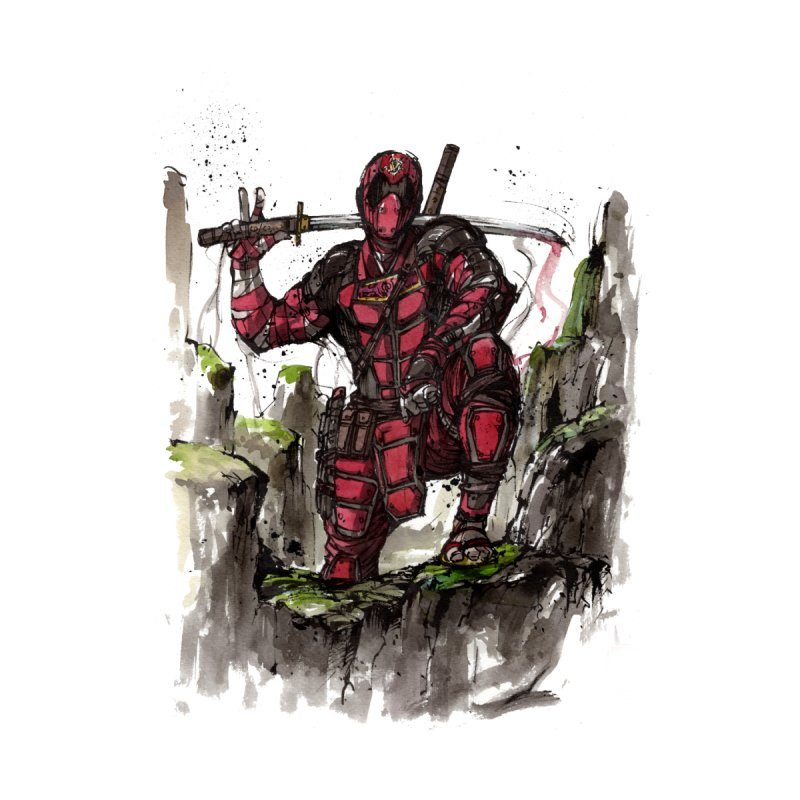 Deadpool samurai sumie None  by mycks's Artist Shop