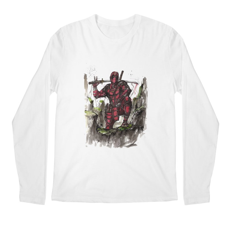 Deadpool samurai sumie Men's Longsleeve T-Shirt by mycks's Artist Shop